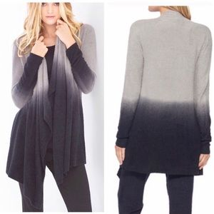 BAREFOOT DREAMS Black Ombré Cardigan Sweater NWT